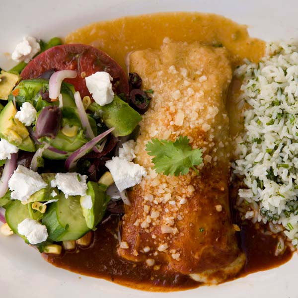 enchilada with escabeche
